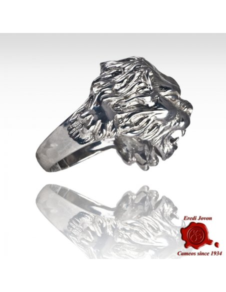 Venice Roaring Lion 925 Silver Ring
