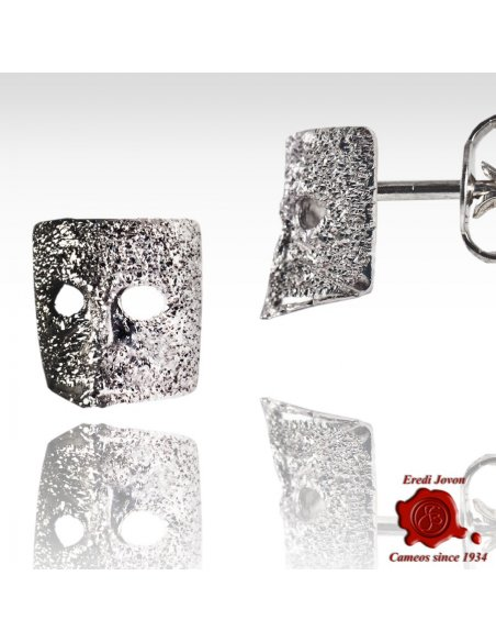Casanova Stardust 925 Silver Mask Earrings