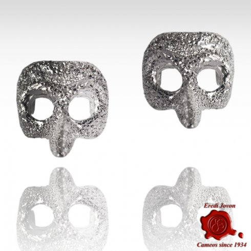 Plague Doctor Stud Silver Mask Earrings Stardust