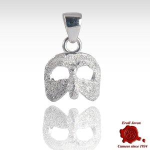 Venetian Mask Carnival Jewelry in Silver