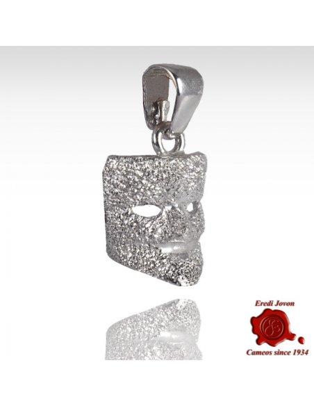 Silver Carnival Mask Pendant