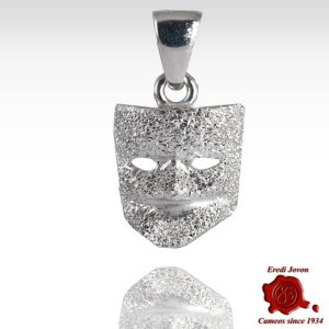 Silver Pendant Casanova Mask Carnival of Venice