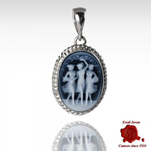 Three Graces Blue Cameo