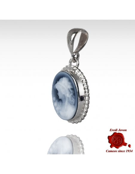 Blue Agate Cameo Angelica
