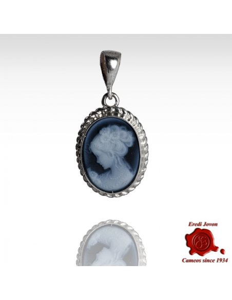 Venice Cameo Blue Necklace