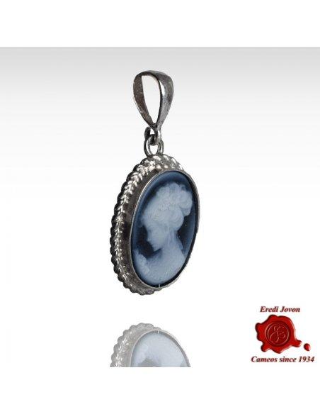 Venice Cameo Blue Necklace