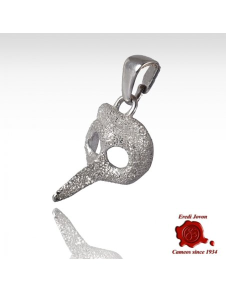 Carnival Doctor's Mask Pendant Stardust 925% Silver