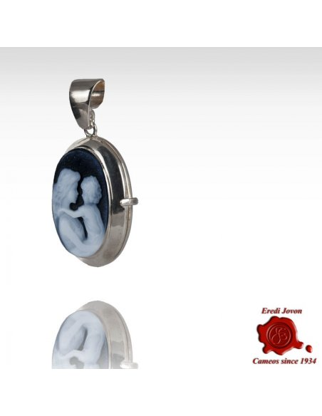 Cameo Locket Mother with Child