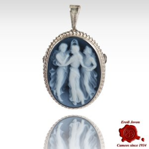Three Graces Cameo Brooch