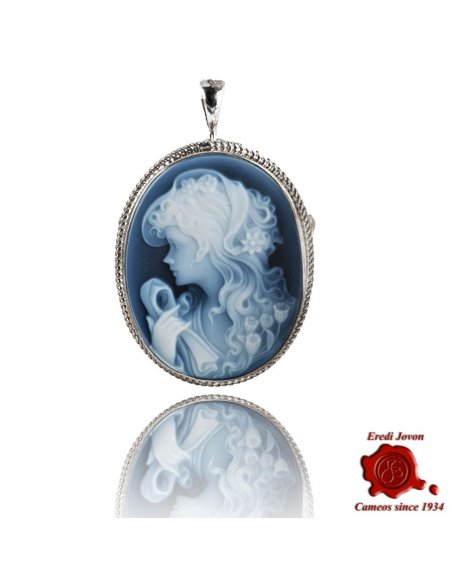 Lady Blue Cameo Silver