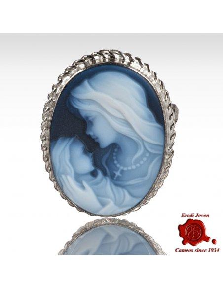 Madonna Spilla cammeo argento