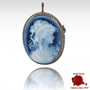 Angelica lady blue cameo...