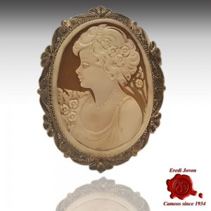 Victorian Filigree Cameo Antique Silver