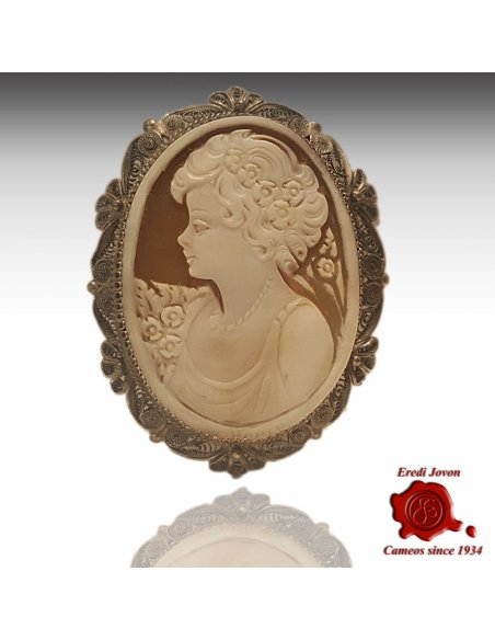 Filigree Cameo Brooch