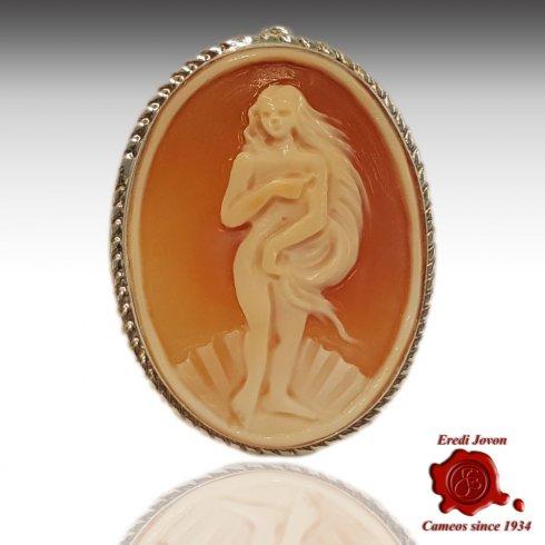Birth of Venus Botticelli Cameo Brooch