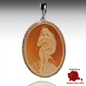Nascita di Venere ciondolo cammeo