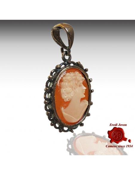 Filigree Cameo Necklace Silver