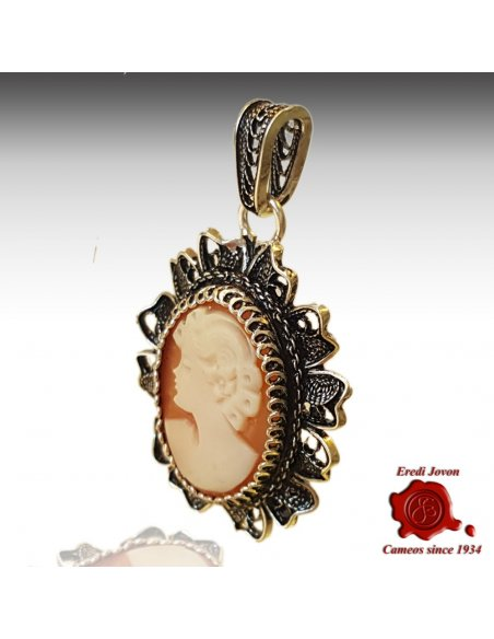 Filigree Cameo Necklace