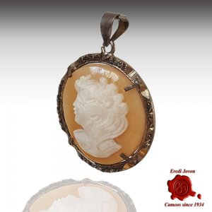 Marcasite Antique Cameo Round