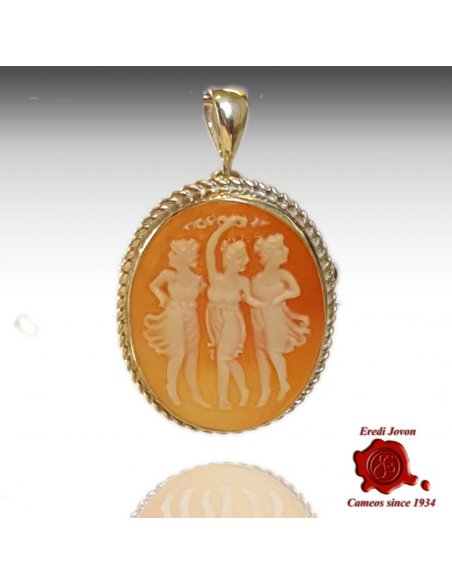 Cameo 3 Graces Brooch silver