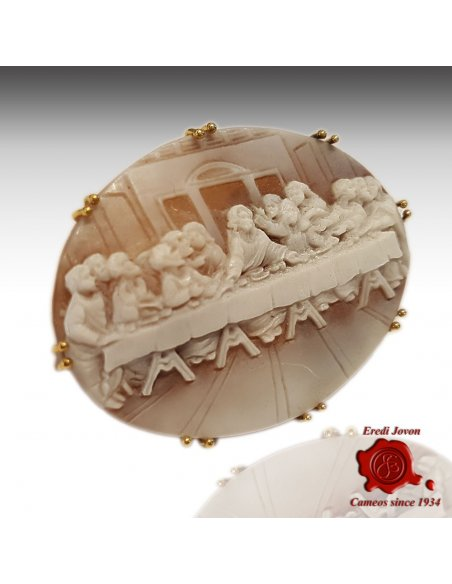 Cameo Last Supper Leonardo Gold