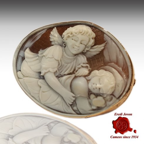 Guardian Angel Shell Cameo