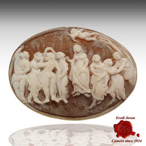 Cammeo Primavera Botticelli Oro