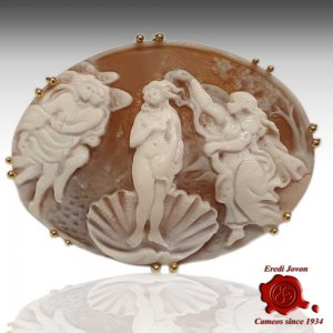 Cameo Birth of Venus Gold