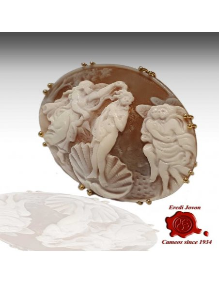 Cameo Birth of Venus Gold