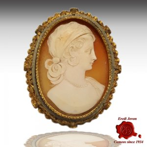 Victorian Cameo Lady Gold