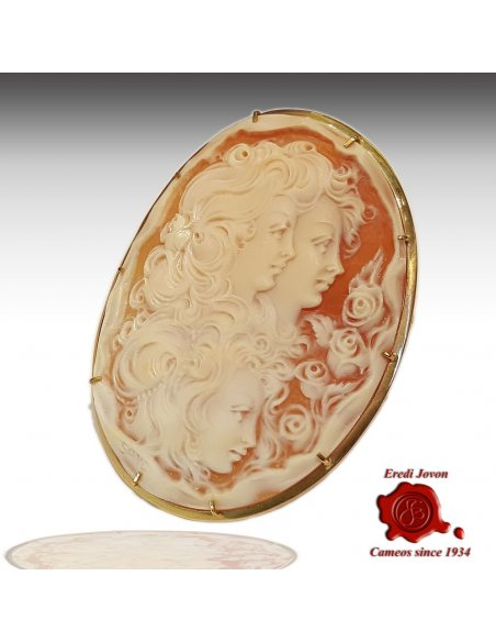 Shell Cameo Night and Day Antique