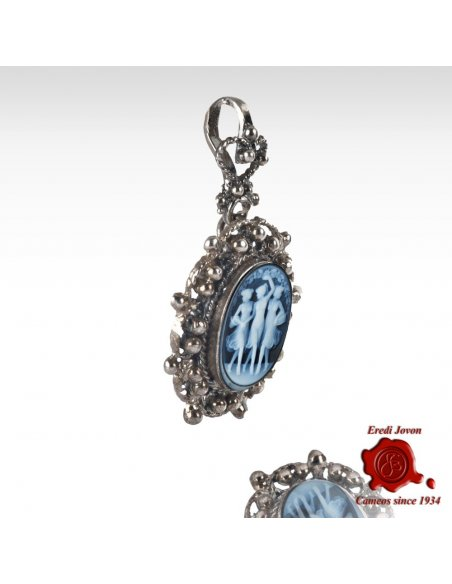 Three Graces Cameo Filigree Silver