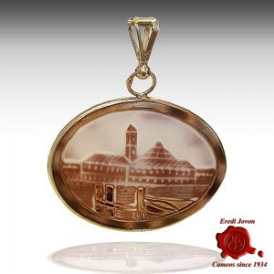 Saint Mark Square Cameo Pendant