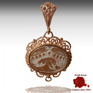 Shell Cameo necklace Rialto Bridge
