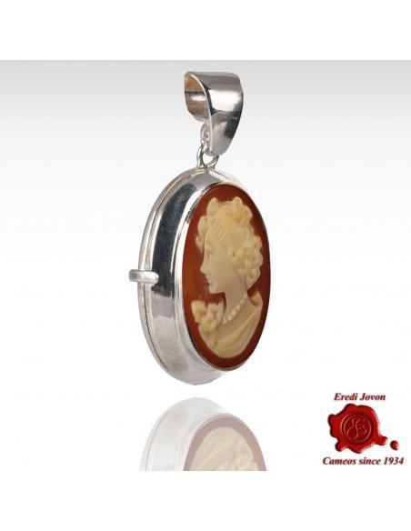 Handmade Shell Cameo Locket