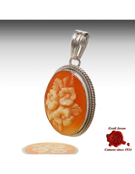 Flower Shell Cameo Silver