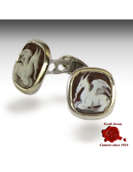 Dragon Cufflinks Shell Cameo