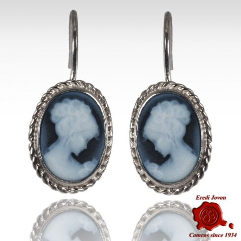 Venice Cameo Dangle Earrings