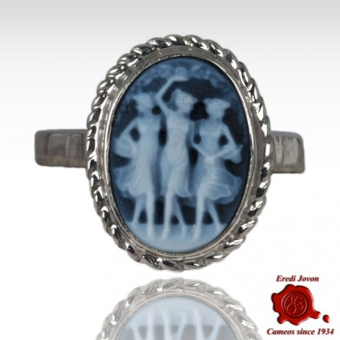 Three Graces Cameo Ring