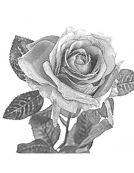 Blue Cameo Flower Silver Pendant Sketch
