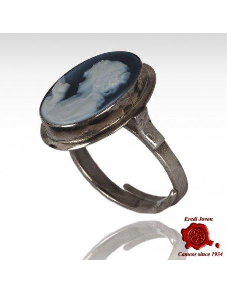 Blue Cameo Ring Primavera