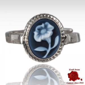 Cameo Ring with Lily