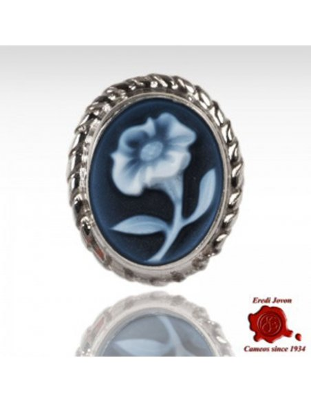Lily Flower Cameo Pendant