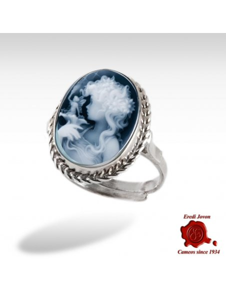 Blue Cameo Ring Fairy
