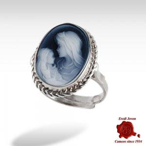 Virgin Blue Cameo Ring