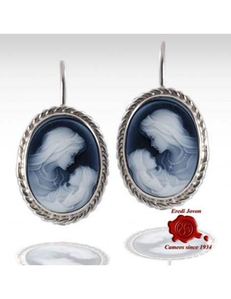Holy Virgin Cameo Earrings