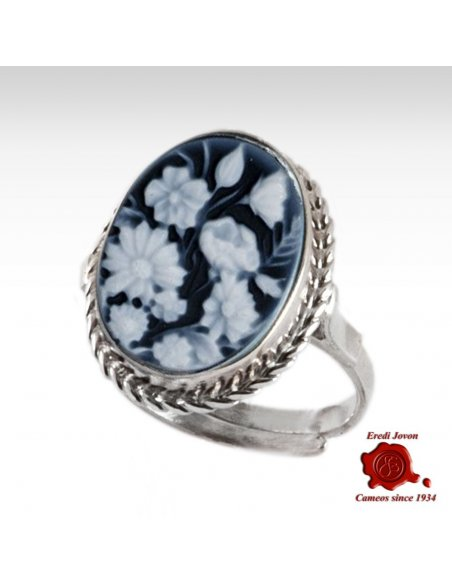 Blu Cameo Flower