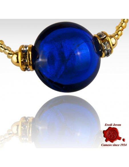 Bracciale Perle Veneziane Montatura Argentata O Dorata