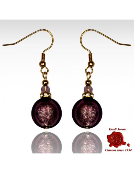 Venetian Round Bead Earrings Silver Or Gold Plated