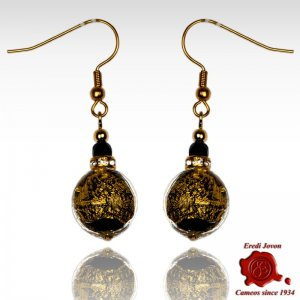 First Quality Glass Round Bead Earrings